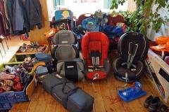 Blick auf Kindersitze